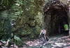 Cyclist(s) on Katy Trail; tunnel near Rocheport - C3-0108 - 72 ppi-2