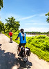 Cyclist(s) on Katy Trail, Rocheport to MKT turnoff for Columbia - C2-A-0322 - 72 ppi-2