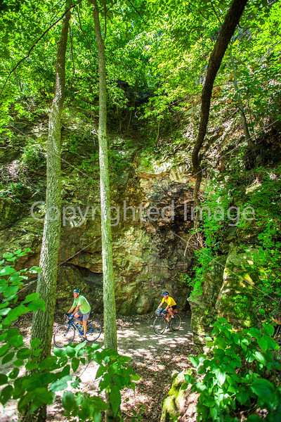Cyclist(s) on Katy Trail; tunnel near Rocheport - C2-A-0148 - 72 ppi