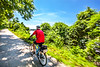 Cyclist(s) on Katy Trail, Rocheport to MKT turnoff for Columbia - C2-A-0325 - 72 ppi