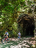 Cyclist(s) on Katy Trail; tunnel near Rocheport - C2-A-0107 - 72 ppi-2