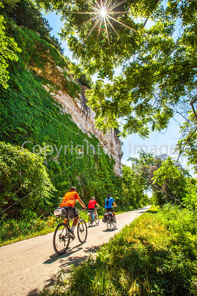 Cyclist(s) on Katy Trail, Rocheport to MKT turnoff for Columbia - C2-A-0326 - 72 ppi