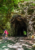 Cyclist(s) on Katy Trail; tunnel near Rocheport - C2-A-0112 - 72 ppi-2
