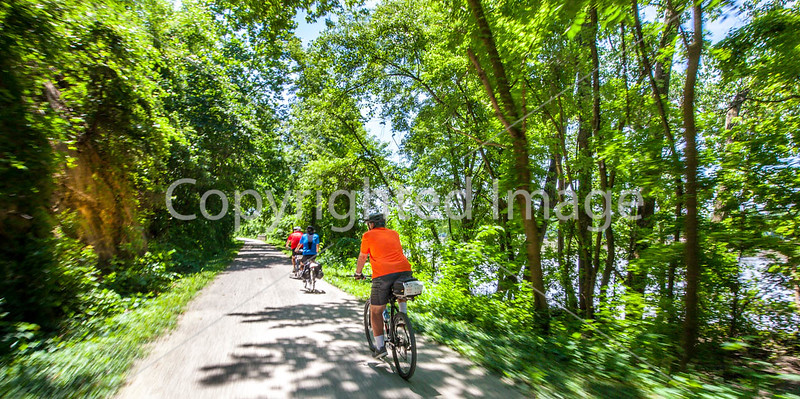 Cyclist(s) on Katy Trail, Rocheport to MKT turnoff for Columbia - C2-A-0286 - 72 ppi-2