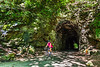 Cyclist(s) on Katy Trail; tunnel near Rocheport - C2-A-0112 - 72 ppi