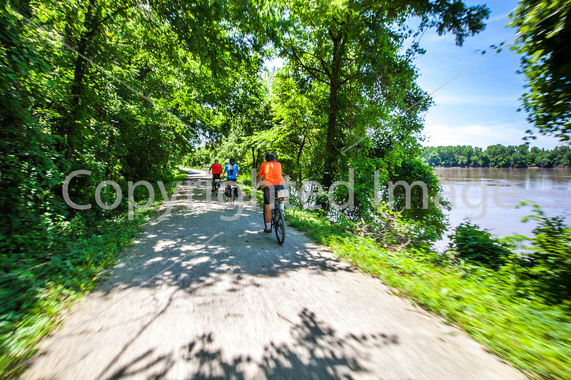 Cyclist(s) on Katy Trail, Rocheport to MKT turnoff for Columbia - C2-A-0290 - 72 ppi