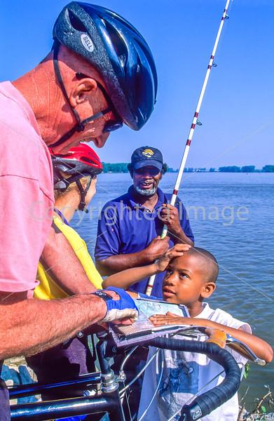 Fishermen & touring cyclists