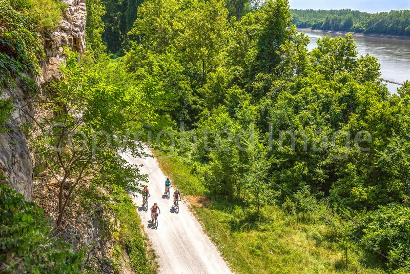 Cyclist(s) on Missouri's Katy Trail near Rocheport - C3-0012 - 72 ppi