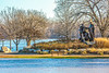 Lewis & Clark campsite, boat house, & statue on St  Charles MO waterfront - 72 ppi-5