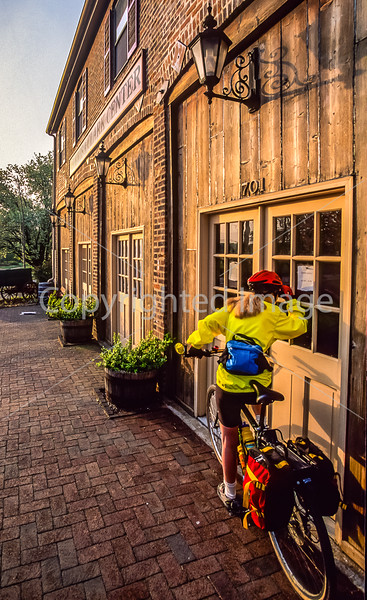 Cyclist at Lewis & Clark Museum & Trading Post in St  Charles, MO - 1 - 72 ppi-2