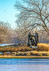 Lewis & Clark campsite, boat house, & statue on St  Charles MO waterfront - 72 ppi-4