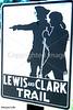 Lewis & Clark sign along Missouri River in eastern Missouri