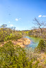 Canoe on Meramec River from high bluffs at Onondaga Cave State Park, MO - C1 - -1 - 72 ppi