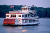 Paddlewheel steamboat on the Mississippi near Hannibal, Missouri - 1 - 72 ppi