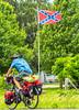 TransAmerica Trail cyclist near Civil War battle site at Pilot Knob, Missouri - C3-0124 - 72 ppi-2