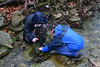 Greg and Andrew photographing a streamside salamander.