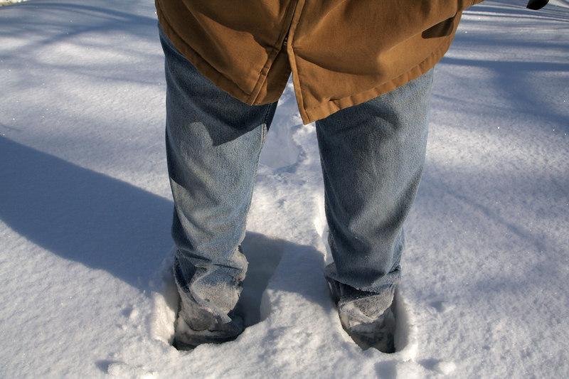 Knee-deep snow