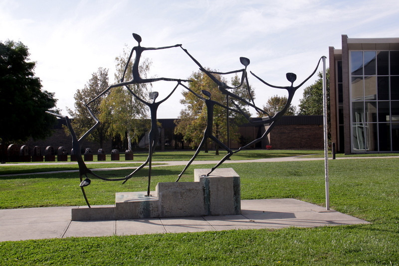 Untitled sculpture in front of the Daum Museum.