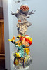 """""""Fragile Fawn"""" by Michael Lurero, earthenware with glass and wooden stool.  Can you see Dumbo in the sculpture?  What else can you spot?"""