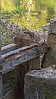 """Alley Spring, six miles Alley west of Eminence, MO.  """"Old Red Mill"""" located near a spring in the Ozark National Scenic Riverways. The mill, built in1894 along the Jack's Fork River,  is a roller mill rather than a water wheel type.  Rollers are used rather than  grist stones."""