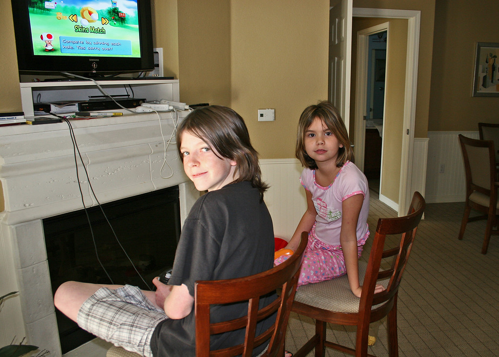 Craig and Astali playing on the WII