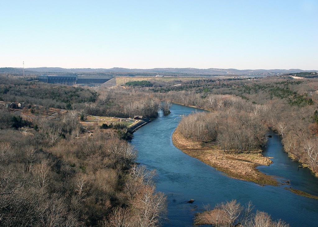 The White River that flows through Branson, MO