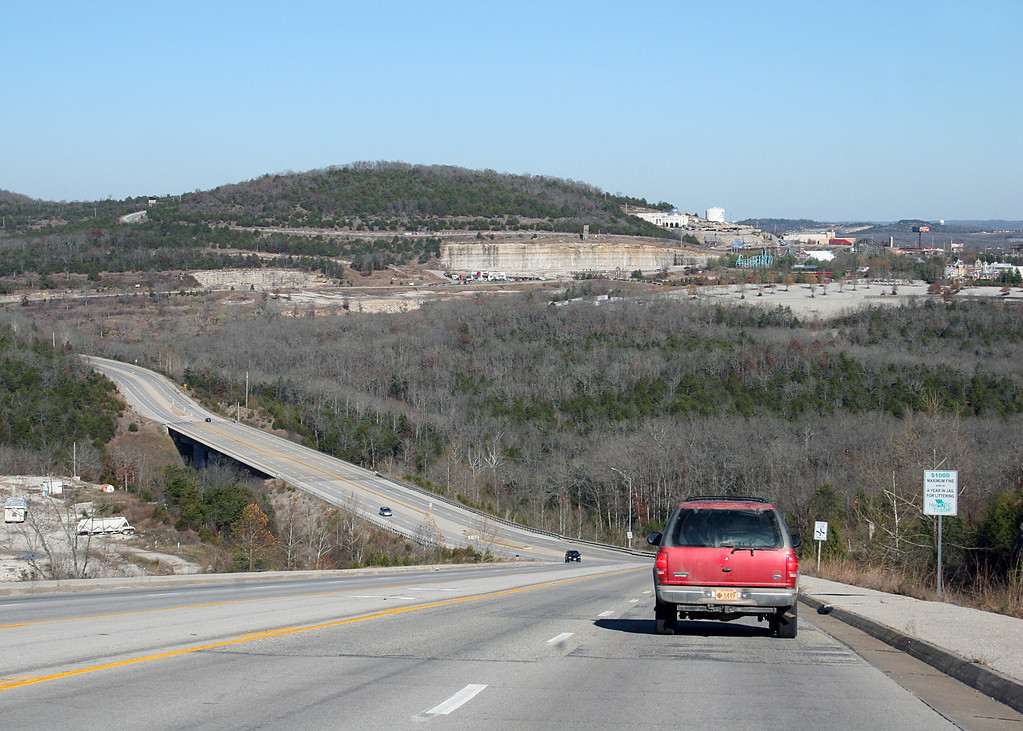 This is a 9% grade going into Branson, MO