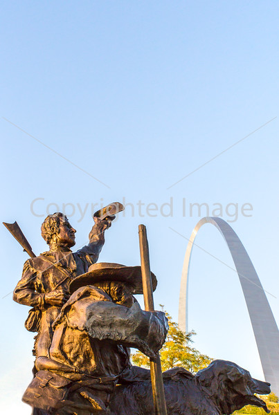 Lewis & Clark on St  Louis waterfront, returning-2 - 72 ppi