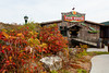 The Fish House restaurant with fall foliage color in Branson, Missouri, USA.