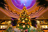 A decorated Christmas tree in the Sight and Sound theater in Branson, Missouri, USA.