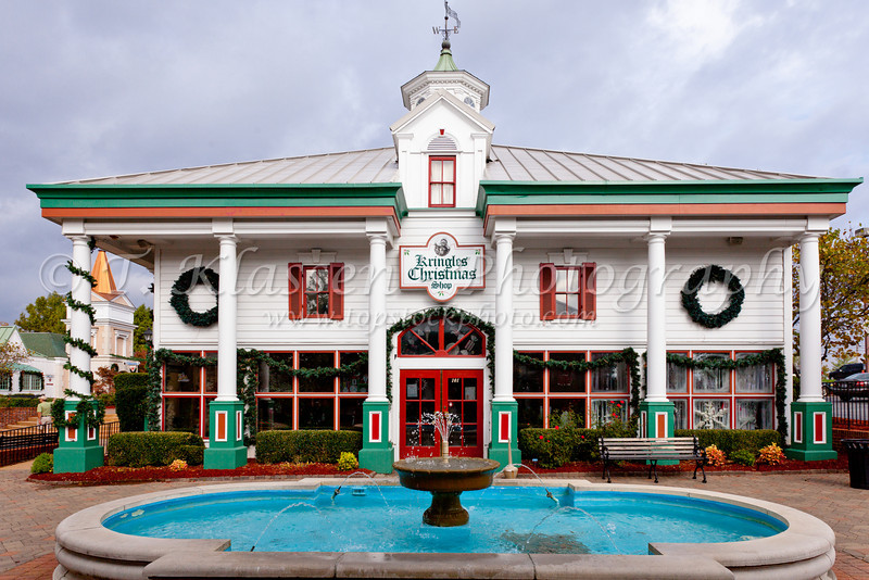 The shops and stores at the Grand Village Shopping Center in Branson, Missouri, USA.