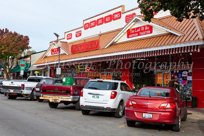 Historic steet in downtown Branson, Missouri, USA.