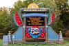 Silver Dollar City entrance sign near Branson, Missouri, USA.