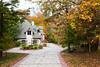 An Ozark mountain home with fall foliage near Branson, Missouri, USA.