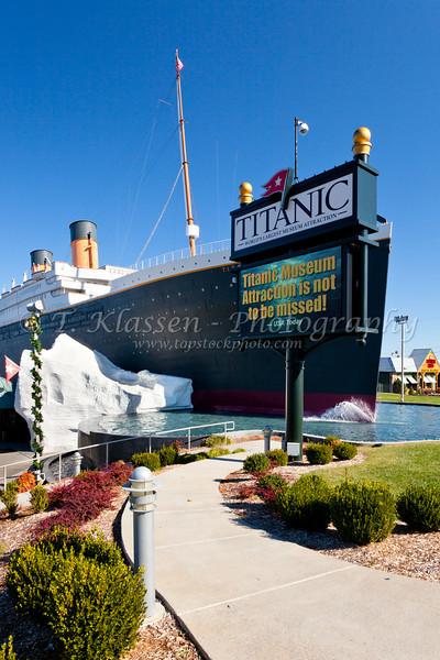 The Titanic theater in Branson, Missouri, USA.