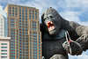The exterior of the Hollywood Wax Museum with King Kong in Branson, Missouri, USA.