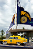 The Uptown Cafe with vintage 1953 Henry J Kaiser car in Branson, Missouri, USA.