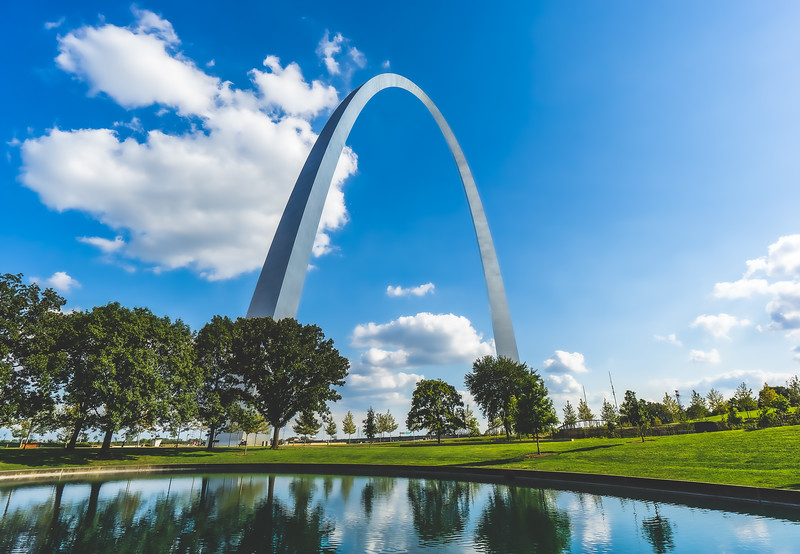 Gateway Arch National Park in St. Louis Missouri