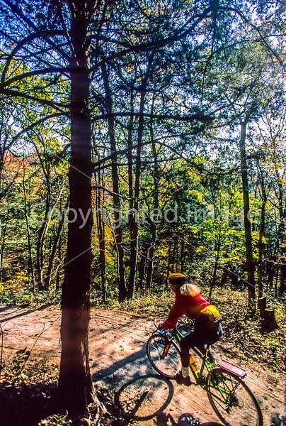 Biker on connecting trail near Rocheport to Missouri's Katy Trail - 107 - 72 ppi