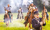 Confederate cavalry chase Union soldiers at Centralia, MO, 150th anniversary reenactment - C1-0356 - 72 ppi-2
