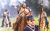 Confederate cavalry chase Union soldiers at Centralia, MO, 150th anniversary reenactment - C1-0356 - 72 ppi - 2