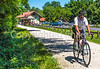 Cyclist(s) on Katy Trail at (or near) Rocheport trailhead - C3-0141 - 72 ppi-2