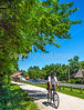 Cyclist(s) on Katy Trail at (or near) Rocheport trailhead - C3-0141 - 72 ppi-3