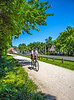Cyclist(s) on Katy Trail at (or near) Rocheport trailhead - C3-0141 - 72 ppi