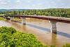 Cyclist on bridge over Missouri River at Hermann, Missouri - C3-0128 - 72 ppi