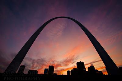 The Gateway Arch in downtown St. Louis.  Photo by Kyle Spradley | www.kspradleyphoto.com