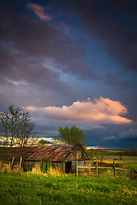 At a barn outside of Columbia, a spring storm in central Missouri lit up the sky.  Photo by Kyle Spradley | www.kspradleyphoto.com