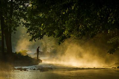 Roaring River Fisherman