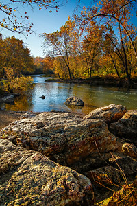Boulders along Shoal Creek, outside of Joplin, Missouri.  Photo by Kyle Spradley | www.kspradleyphoto.com