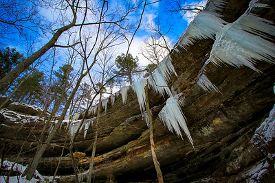 Hickory Canyon Natural Area is located outside of Farmington, Missouri. The natural area is highlighted by the canyons and pine-covered cliffs.  Photo by Kyle Spradley | www.kspradleyphoto.com